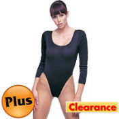 Adult Black Bodysuit Plus Size