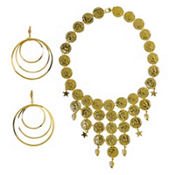 Gold Coin Jewelry Set