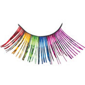 Rainbow Tinsel False Eyelashes