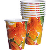 Elegant Leaves Cups 8ct