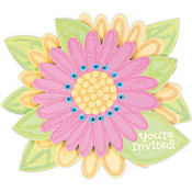 Splashy Flower Jumbo Invitations 8ct