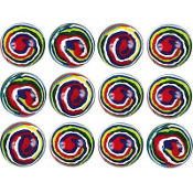 Stripe Bounce Balls 12ct