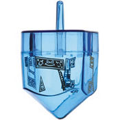 Fillable Plastic Dreidel 1 3/4in