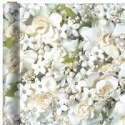 White Flower and Pearl Gift Wrap