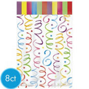 Bright Streamers Jumbo Favor Bags 8ct