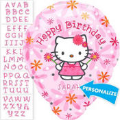 Hello Kitty Personalized Foil Balloon 18in