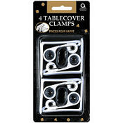 White Tablecover Clamps 4ct
