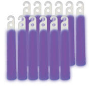 Purple Glow Stick Necklaces 4in 12ct