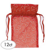 Red Organza 7in Bags 12ct