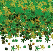 St. Patricks Day Shamrock Metallic Confetti 2 1/2oz