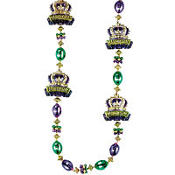 Crowns Mardi Gras Bead Necklace 41in
