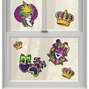 Mardi Gras Gel Clings 6ct