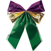 Mardi Gras Bow 16in