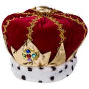 Adult Velvet King Crown