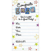 Graduation Wishes Glitter Graduation Invitations 8ct