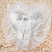 Organza Ribbon Ring Bearer Pillow