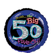 Foil Oh No the Big 5-0 Balloon 18in