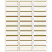 Gold Printable Address Labels 90ct