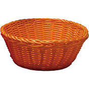 Orange Round Serving Basket  8 1/4in x 3 1/4in