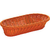 Orange Rectangular Serving Basket 15in