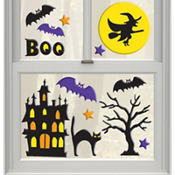 Haunted Scene Gel Clings 15pc