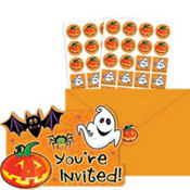 Scared Silly Halloween Invitations Value Pack 20ct