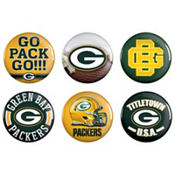 Green Bay Packers Buttons 6ct