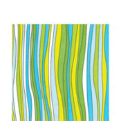 Caribbean Blue Stripe Lunch Napkins 20ct