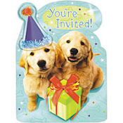 Puppy Jumbo Invitations 8ct