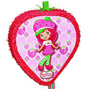 Pull String Strawberry Shortcake Pinata 20in