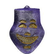 3D Glitter Comedy Mask Decoration 12in