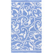 Pastel Blue Ornamental Scroll Hand Towels 16ct