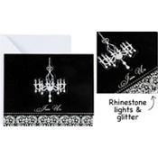 Elegant Chandelier Large Invitation 8ct