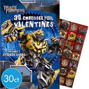 Transformers Valentines Day Cards with Sticker Sheet 30ct