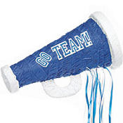 Pull String Blue Megaphone Pinata 18in