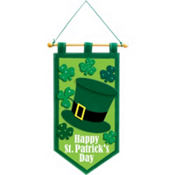 St. Patricks Day Fabric Door Decoration 22in