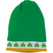 St. Patricks Day Knit Skull Cap 8 1/2in