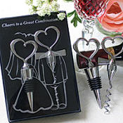 Cheers to a Great Combination Wine Set Wedding Favor