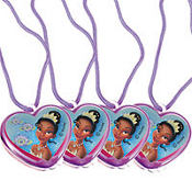 Princess and the Frog Lip Gloss Necklaces 4ct
