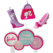 Barbie Birthday Candle Set 4ct