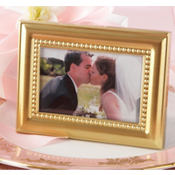 Beautifully Beaded Gold Photo Frame & Place Card Holder Wedding Favor