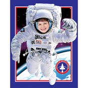 Space Odyssey Plastic Photo Op Banner 40in x 50in