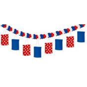 Patriotic Lantern Garland 12ft