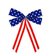 Star Spangled Door Bow 14in