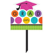 Colorful Commencement Yard Sign 14in x 15in
