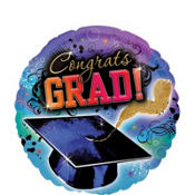 Foil Grad Reflections Graduation Balloon 18in