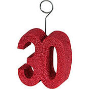 30 Red Glitter Balloon Weight
