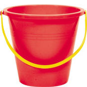 Red Large Pail 9in