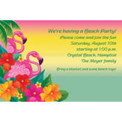 Flamingo Beach Custom Invitation