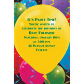 Balloon Celebration Custom Invitation